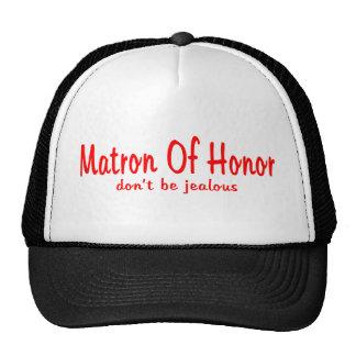 Matrona de los celos del honor gorro de camionero