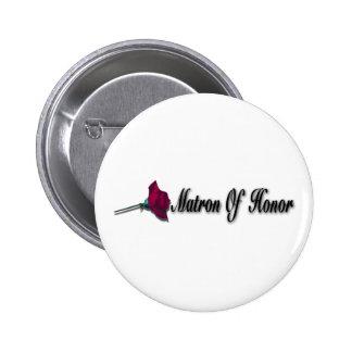 Matrona del botón del honor pin redondo de 2 pulgadas
