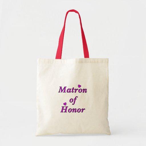Matrona del honor del amor simplemente bolsa