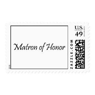 Matrona del honor franqueo