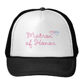 Matrona del honor gorras de camionero