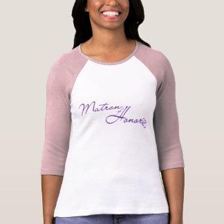Matrona del honor camisetas