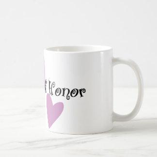 Matrona del honor taza de café