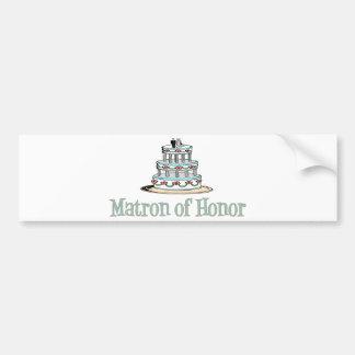 Matrona del honor (torta) pegatina de parachoque