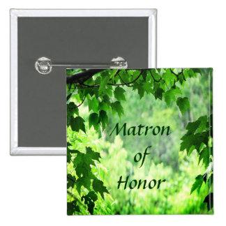 Matrona frondosa del boda del Pin del honor Pin Cuadrada 5 Cm