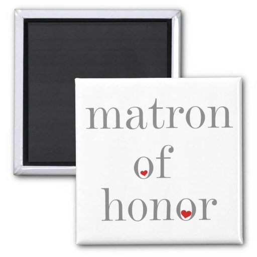 Matrona gris del texto del honor imán