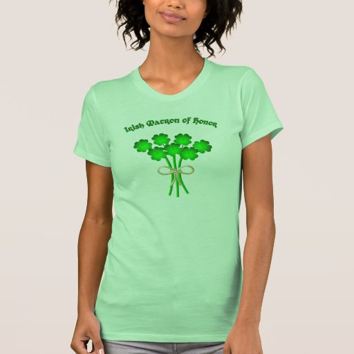 Matrona irlandesa del honor camiseta