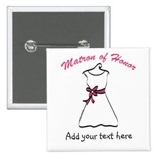 Matrona personalizada de los regalos del honor pin cuadrada 5 cm