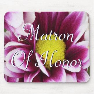 Matrona púrpura del ramo del honor alfombrillas de ratones