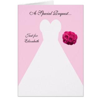 Matrona rosada de la tarjeta del honor -- Vestido