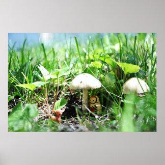 Matroshka in a Mushroom Patch Poster