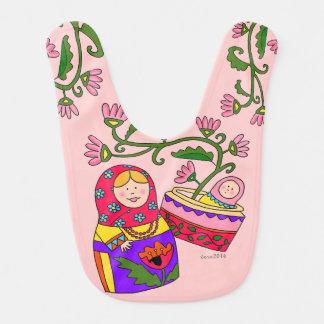 Matroshka Ukrainian Art Baby Bibs