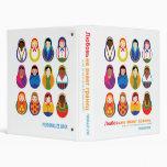Matroyshka International Nesting Doll Lifebook Vinyl Binders