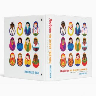 Matroyshka International Nesting Doll Lifebook Binder