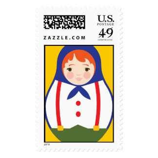 Matroyshka Russian Nesting Dolls - Boy Stamp