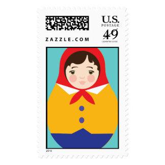 Matroyshka Russian Nesting Dolls - Boy Stamps