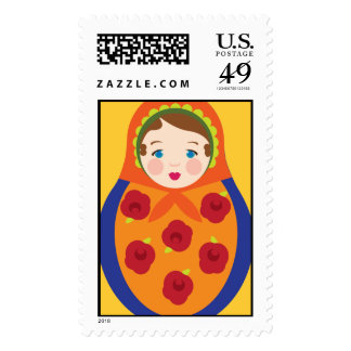 Matroyshka Russian Nesting Dolls Stamps