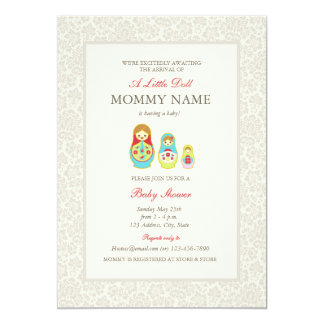 Matroyshka Russian Nesting Dolls Shower Invite
