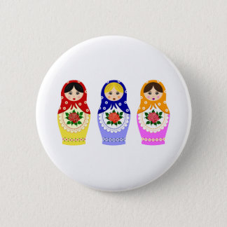 Matryoschka dolls pinback button