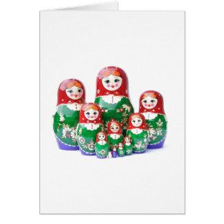 Matryoshka - матрёшка (muñecas rusas) tarjeta de felicitación