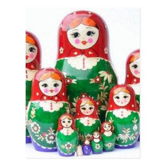 Matryoshka - матрёшка (muñecas rusas) tarjeta postal