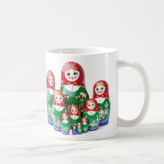 Matryoshka - матрёшка (muñecas rusas) taza de café