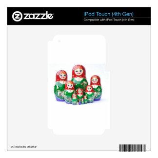 Matryoshka - матрёшка (Russian Dolls) iPod Touch 4G Skin