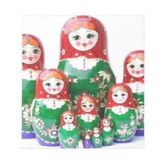 Matryoshka - матрёшка (Russian Dolls) Notepad