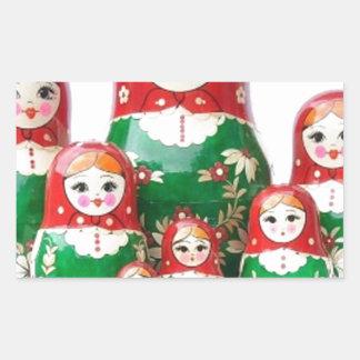 Matryoshka - матрёшка (Russian Dolls) Rectangular Sticker