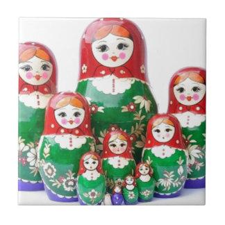 Matryoshka - матрёшка (Russian Dolls) Tile