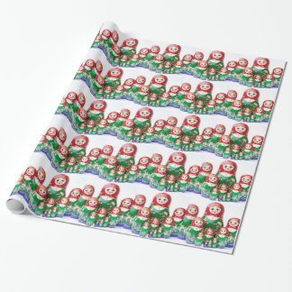 Matryoshka - матрёшка (Russian Dolls) Wrapping Paper