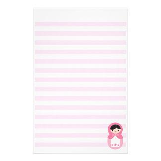 Matryoshka - Bubblegum Pink Stationery