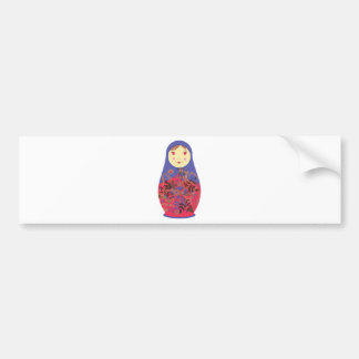 Matryoshka Doll 2 Russian Babushka Nesting Bumper Sticker