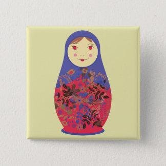Matryoshka Doll 2 ~ Russian / Babushka Nesting Pinback Button