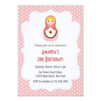 Matryoshka Doll Birthday Invitation