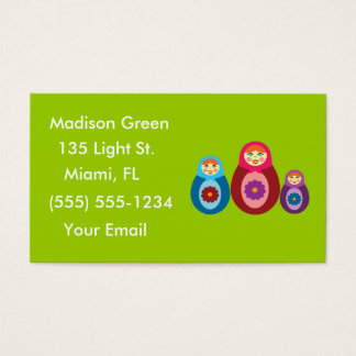 Matryoshka Doll Design Business Cards
