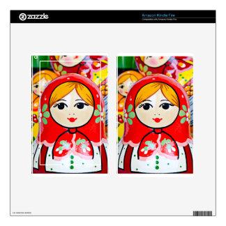 Matryoshka Doll Kindle Fire Decals