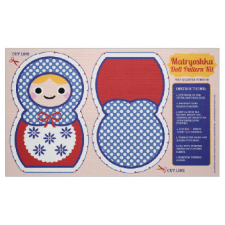 Matryoshka Doll Pattern Kit Fabric