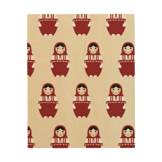 Matryoshka Doll Pattern Wood Wall Decor