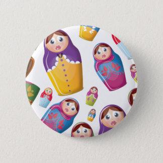 Matryoshka doll - Russian Nested Dolls Pattern Button