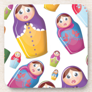 Matryoshka doll - Russian Nested Dolls Pattern Coaster