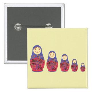 Matryoshka Doll ~ Russian Nesting / Babushka Buttons