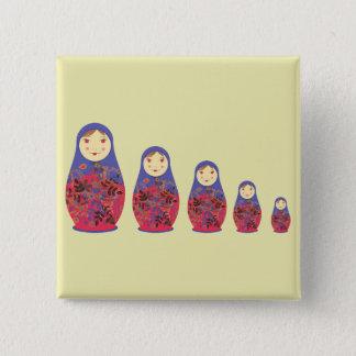 Matryoshka Doll ~ Russian Nesting / Babushka Pinback Button