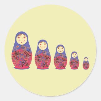Matryoshka Doll ~ Russian Nesting / Babushka Stickers