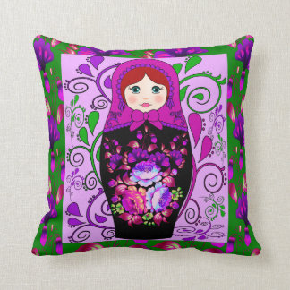How To Make A Doll Decorative Pillow : Matryoshka Doll Pillows - Decorative & Throw Pillows Zazzle