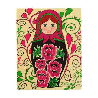 matryoshka doll, Russian nesting doll Wood Print