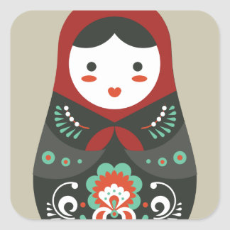 Matryoshka doll / Russian nesting/nested doll Square Sticker