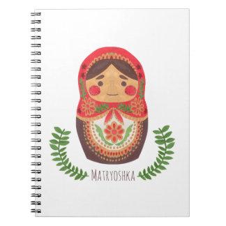 Matryoshka Doll Spiral Notebook