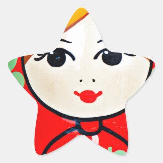 Matryoshka Doll Star Sticker