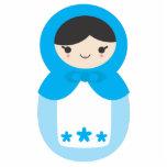 Matryoshka Doll - Sweet Blue Acrylic Cut Out